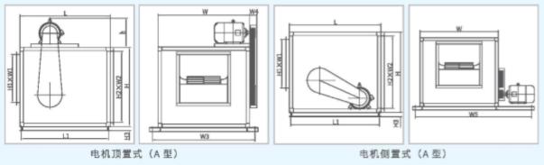 XFA离心式消防排烟风机尺寸图1